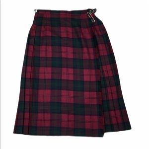 Blarney Vintage Kilt Tartan Plaid Pleated Skirt